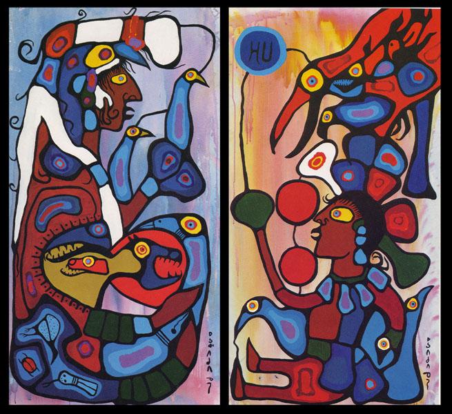 Peinture Shamanique - Tableaux  de Norval MORRISSEAU Storyt10