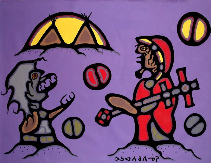 Peinture Shamanique - Tableaux  de Norval MORRISSEAU Windig10