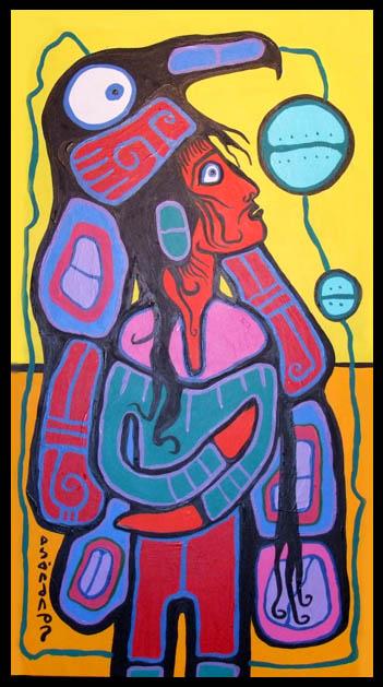 Peinture Shamanique - Tableaux  de Norval MORRISSEAU Young210