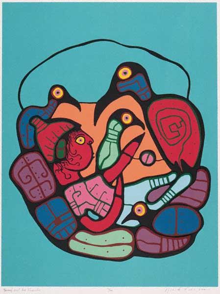 Peinture Shamanique - Tableaux  de Norval MORRISSEAU Yousse10