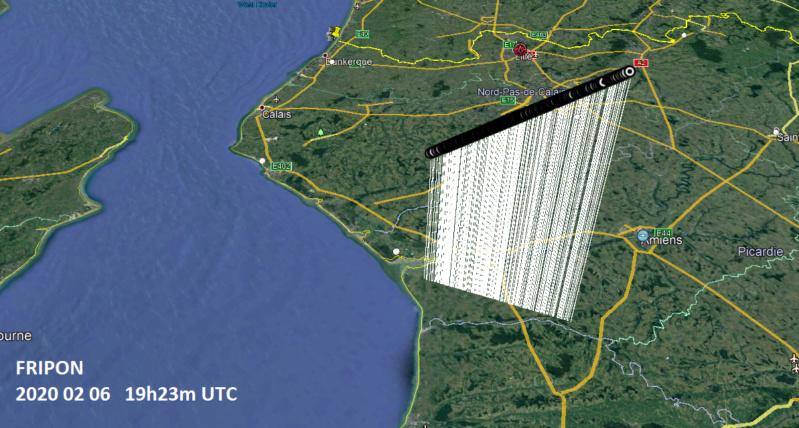 Joli bolide hier soir 19h23m au dessus de la baie de Somme 20200216