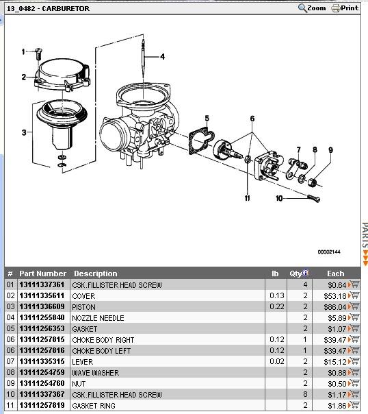 Membrane Bing 32 couvercle plat de R65 Trop10