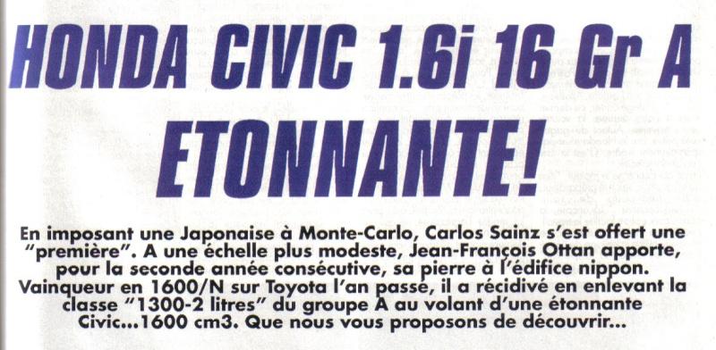 Essais COURSE HONDA CIVIC Groupe A Honda_11