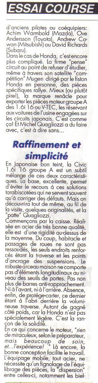 Essais COURSE HONDA CIVIC Groupe A Honda_13