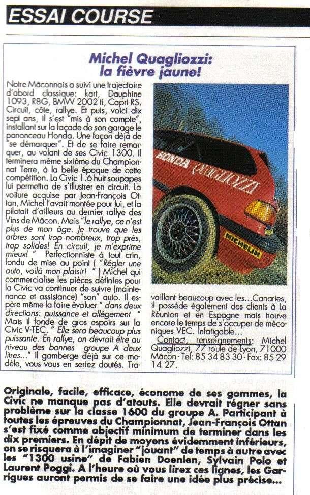 Essais COURSE HONDA CIVIC Groupe A Honda_20