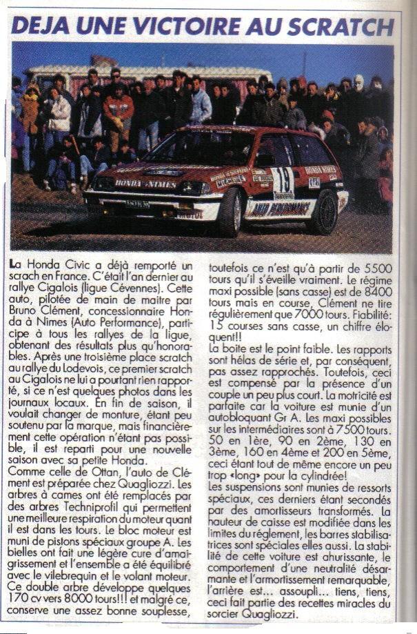 Essais COURSE HONDA CIVIC Groupe A Honda_21