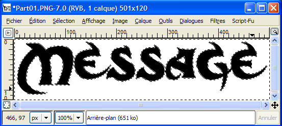 TUTO : [The Gimp 2] Texte effet brouillard Part0210