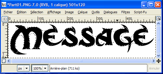TUTO : [The Gimp 2] Texte effet brouillard Part0310