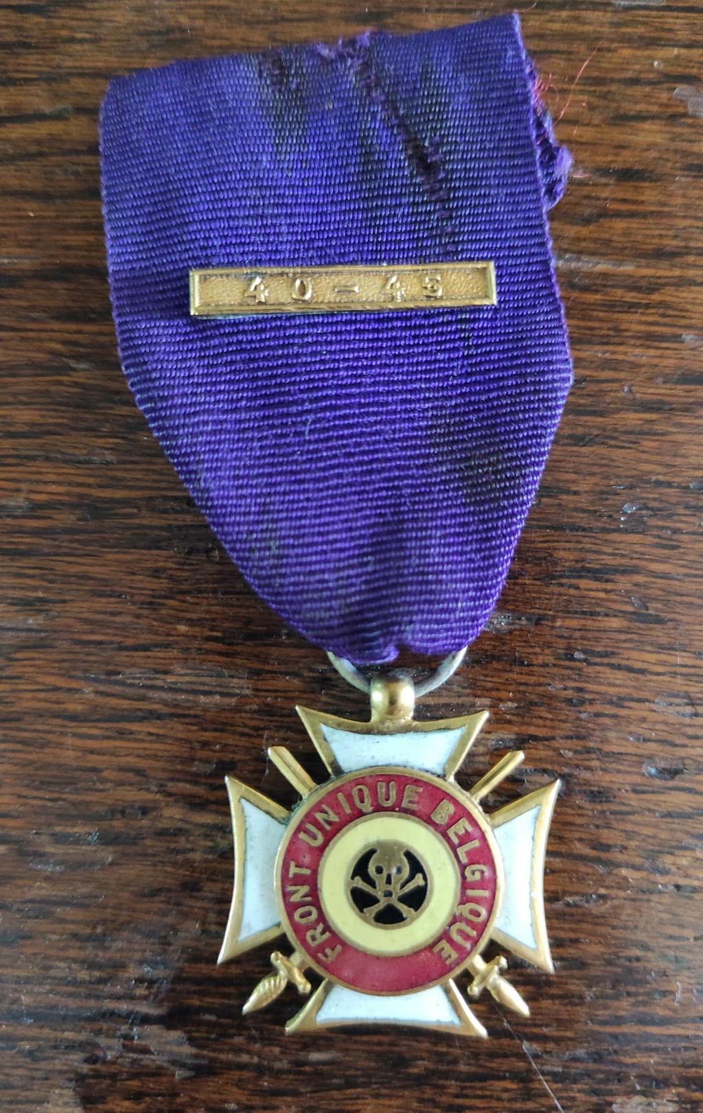 """medaille """" FRONT UNIQUE BELGIQUE"""" Img_2029"""