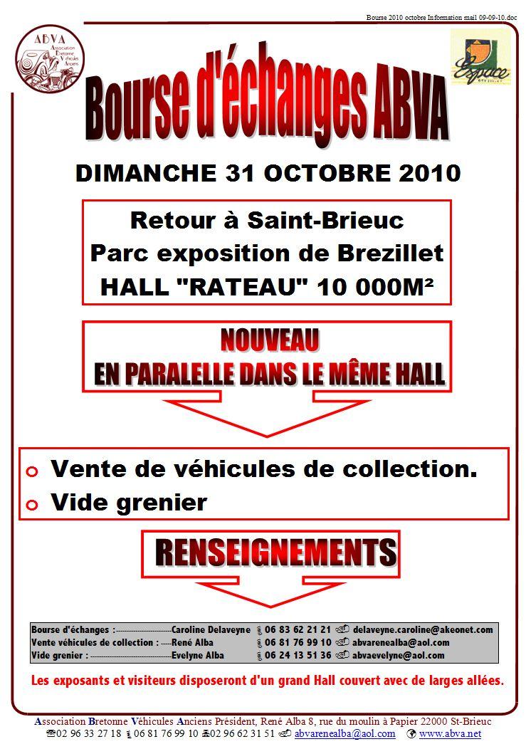 BOURSE d' ECHANGES de l' ABVA   DIMANCHE  31 OCTOBRE Bourse10