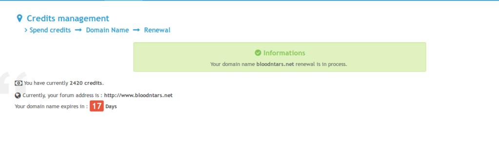 Where is the option to renew domain name? Renewa10