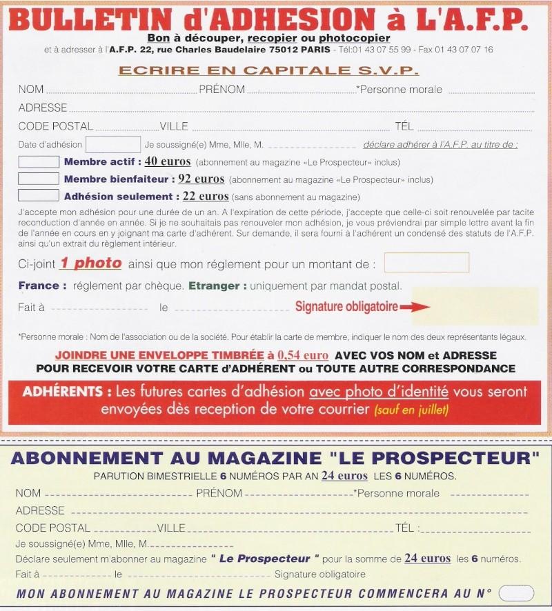 Bulletin d'adhésion Adh10