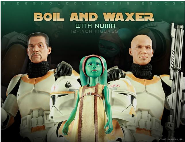 Sideshow - Boil & Waxer with Numa 12' figurines Boil__10