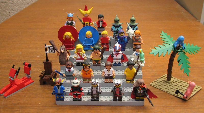 Customs lego  personnages de DA 80's de Fabax Ensemb10