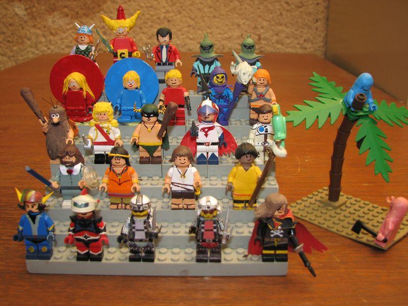 Customs lego  personnages de DA 80's de Fabax Ensemb11