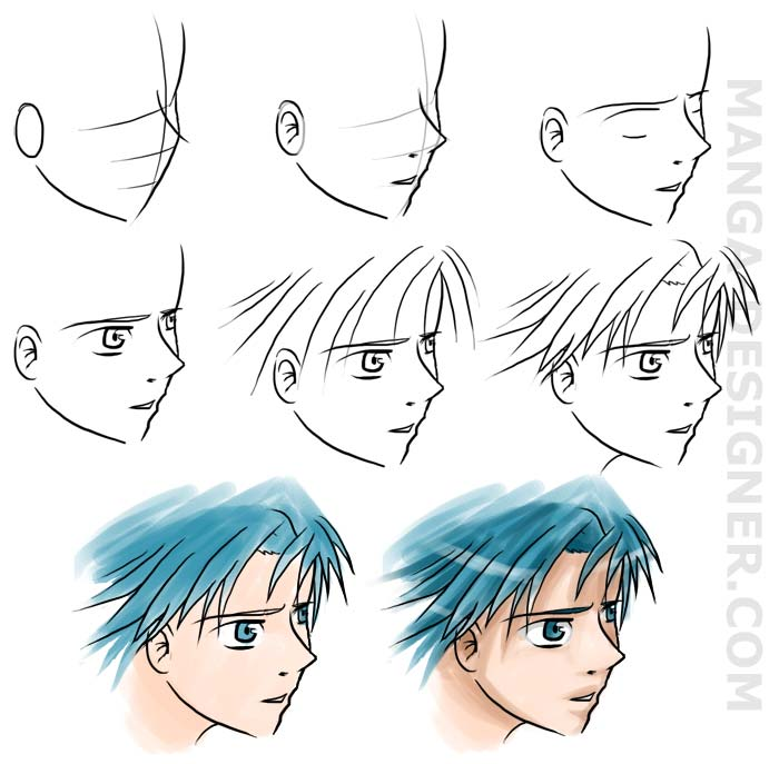 how to draw Manga:PART I Visage10