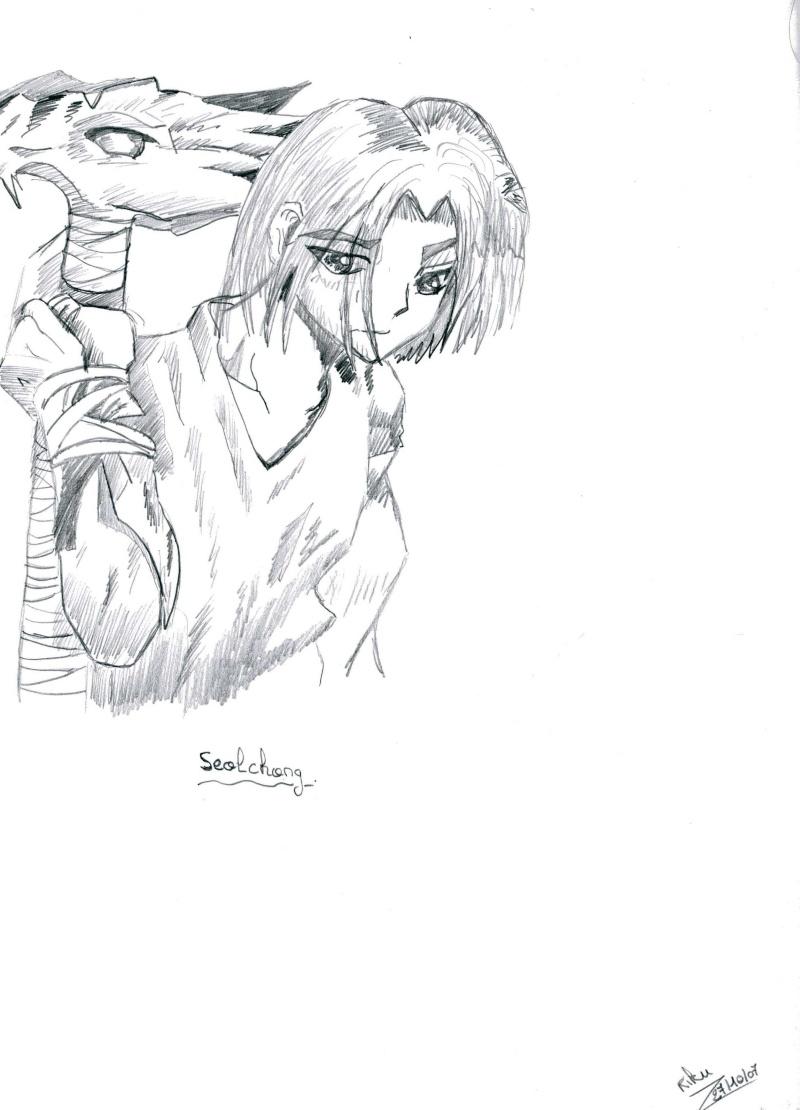 """Riku-Sama  ... avec un crayon dans la main >.<"""" Seolch10"""