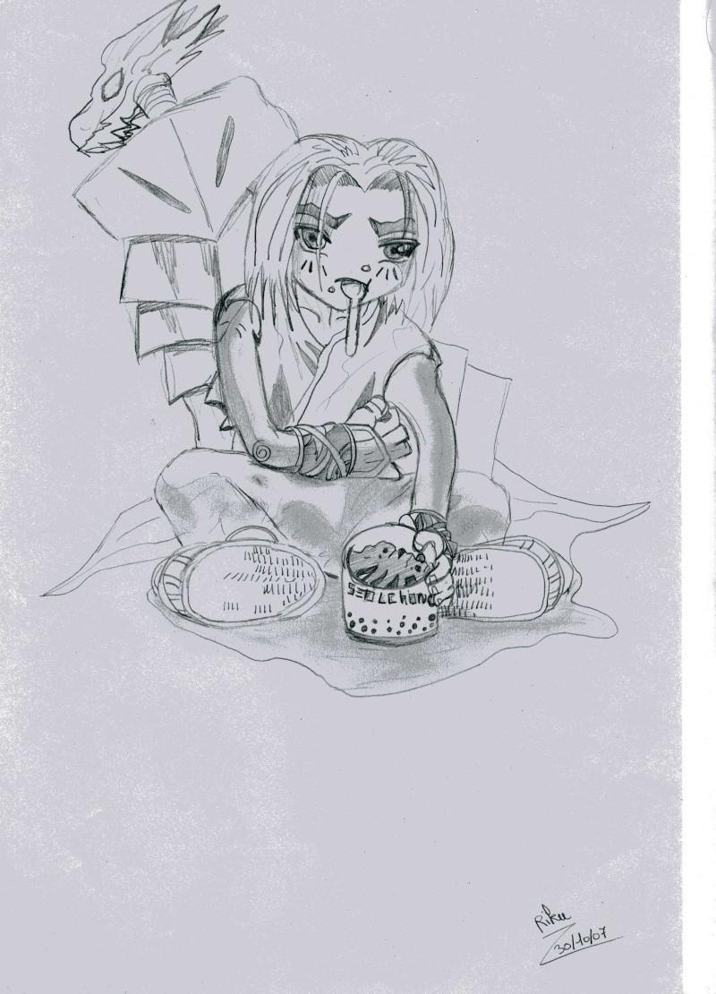 """Riku-Sama  ... avec un crayon dans la main >.<"""" Seolch11"""