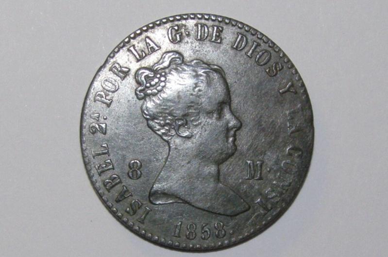 8 maravedis de Isabel II (Barcelona, 1858) [WM n° 7245] Pc221410