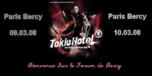 Tokio Hotel : Bercy 9 & 10 Mars 2008