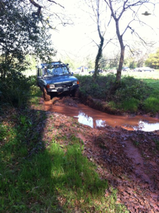 Neil geting some mud on the discovery 20809410
