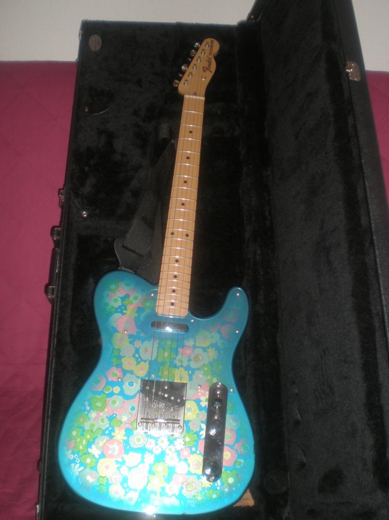 Ma Fender Télécaster Blue Flower P9300014