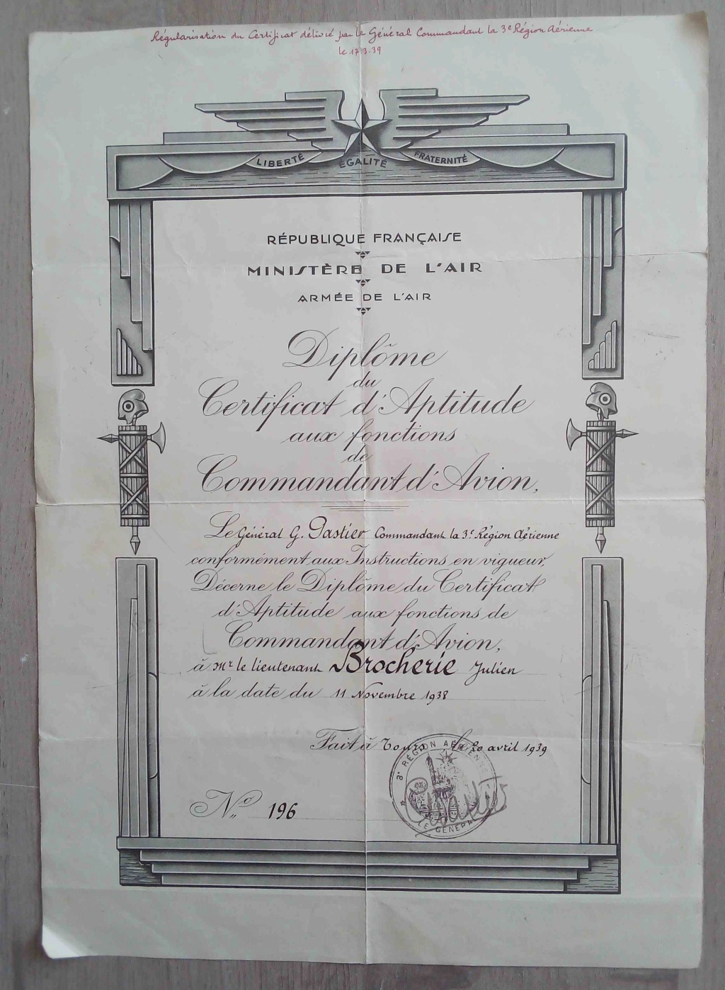 Brevets et diplomes de l'Armée de l'Air; Img_2032