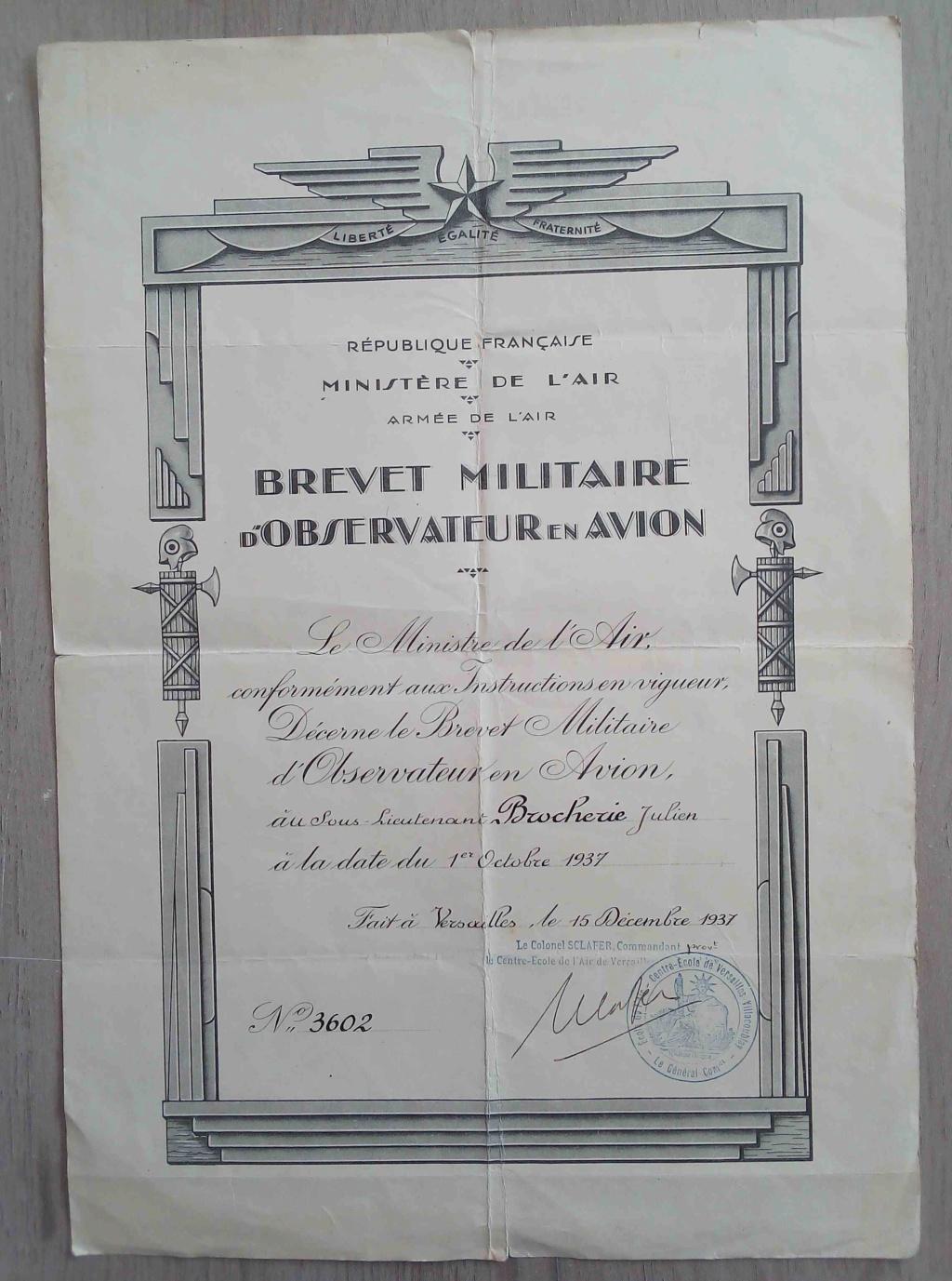 Brevets et diplomes de l'Armée de l'Air; Img_2033