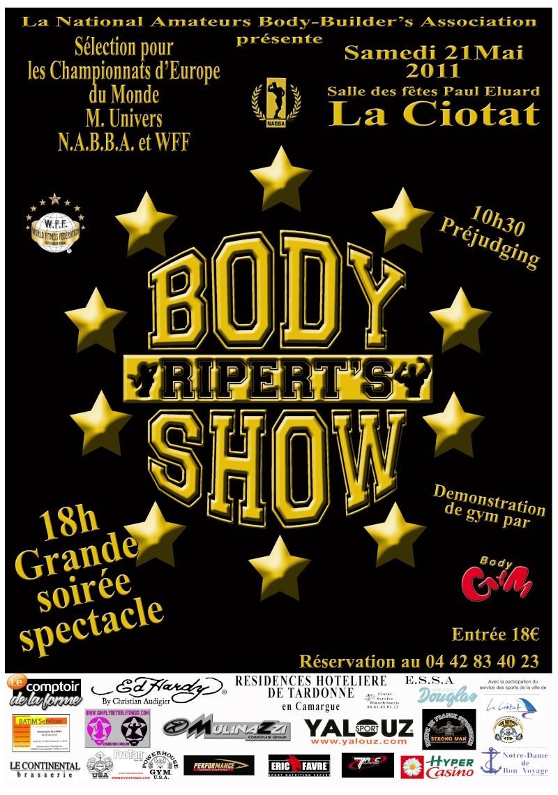 body - RIPERT'BODY SHOW 2011 Affich10