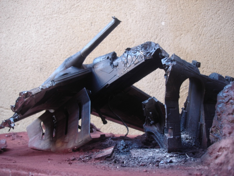 the gunship destroyed after the Battle of Geonosis ah ah :) Dsc08623