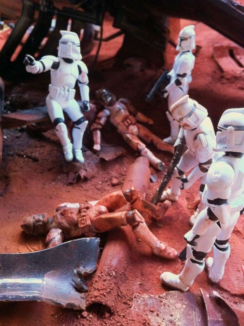 the gunship destroyed after the Battle of Geonosis ah ah :) Img_0011