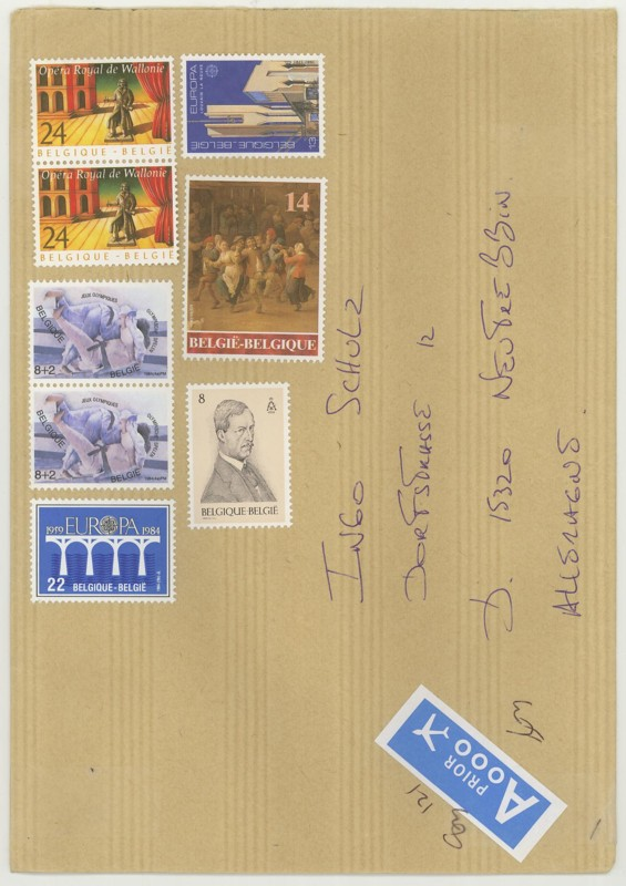 Postbelege - verhunzt und zerstört Belgie10