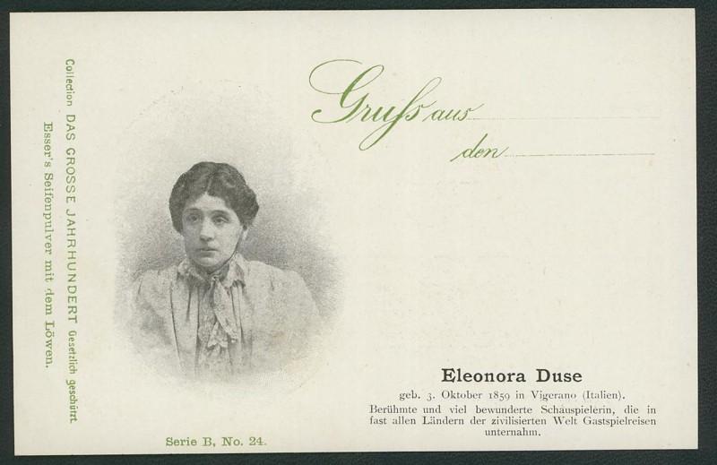 Sammlung Persönlichkeiten des 19. Jahrhunderts Duse_210