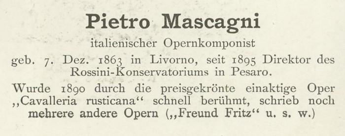 Sammlung Persönlichkeiten des 19. Jahrhunderts Mascag11