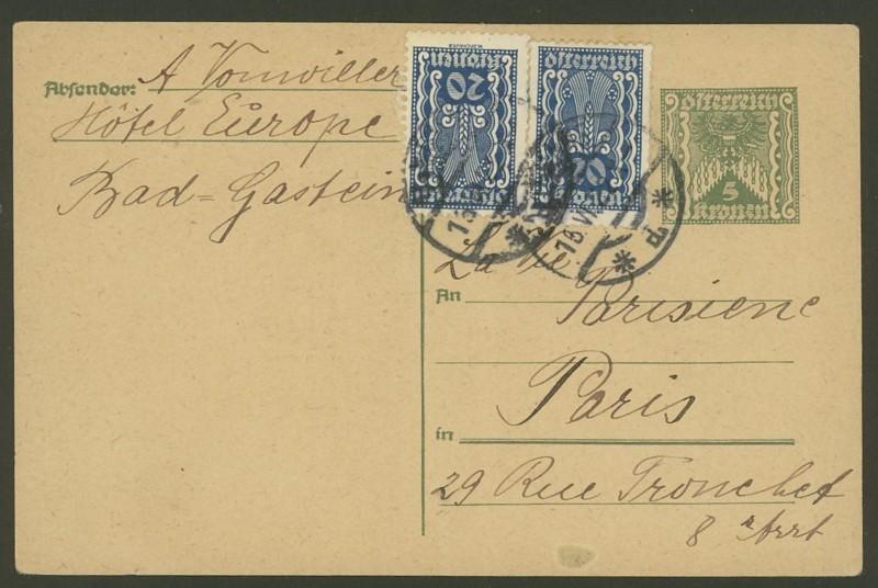 """Postkartenserie """"Quadratischer Wertstempel - Wertziffer im Dreieck"""" 1922-24 - Seite 4 P_249_10"""