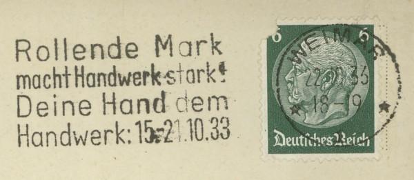 Maschinenwerbestempel - Deutsches Reich Weimar10