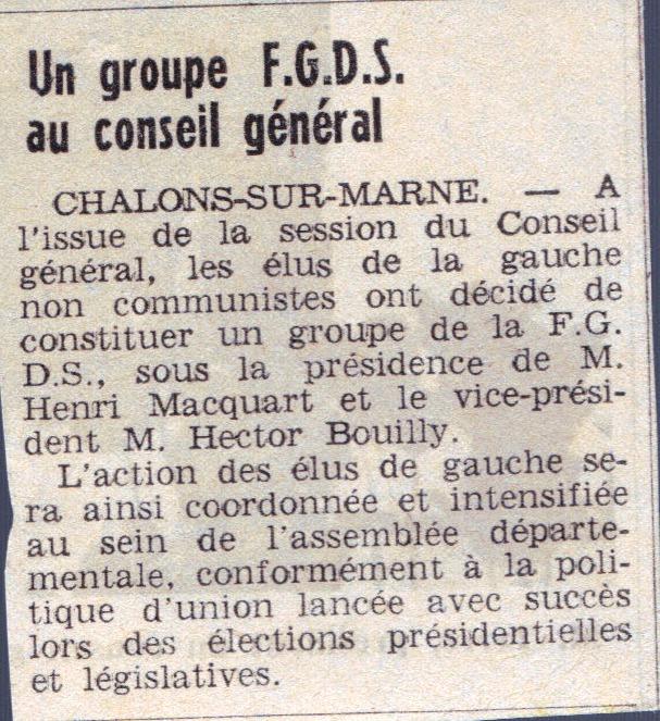 La FGDS - Fédération de la Gauche Démocratique & Socialiste Groupe10