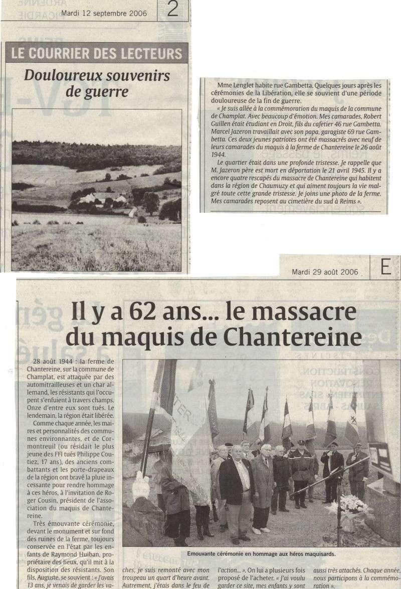 Le Maquis de CHAMPLAT & la Tragédie de la Ferme de CHANTEREINE Maquis10