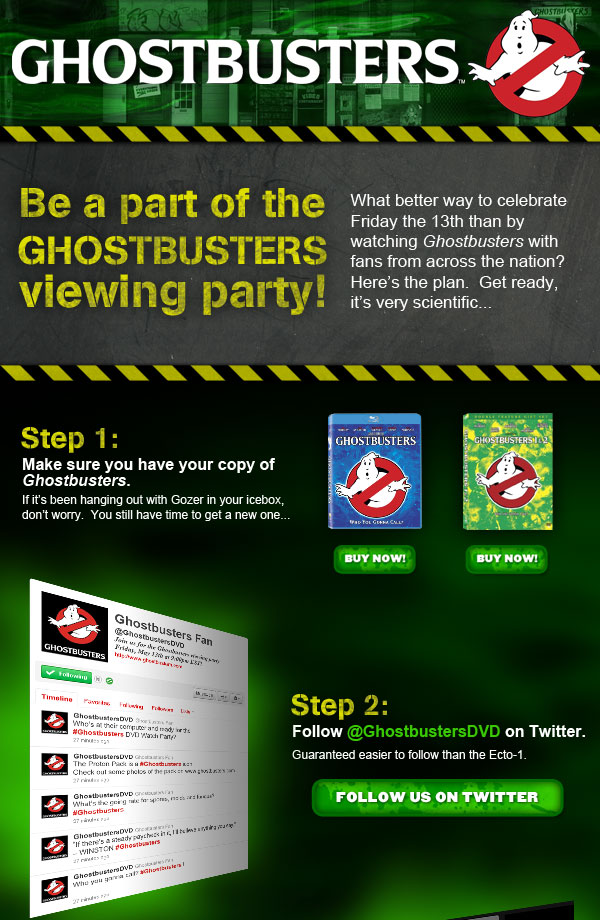 Attend the Ghostbusters Viewing Party Friday, May 13th! Bg-top10