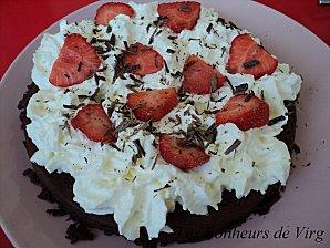 fondant chocolat-chantilly-fraises Dsc03610