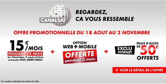 Offres Canal+ et CanaSat sur Bbox TV Canal10