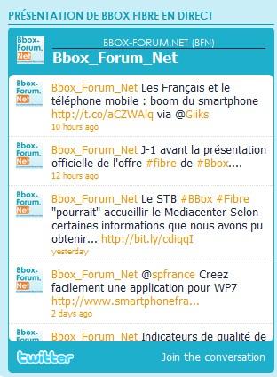 """Suivez la présentation officielle de """"Bbox Fibre"""" en direct Twitte10"""