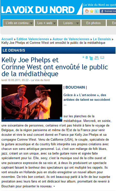 Corinne West with Kelly Joe Phelps - Page 3 Chroni10