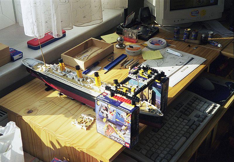 TITANIC in der Werft... (Revell 1:400) 20010611