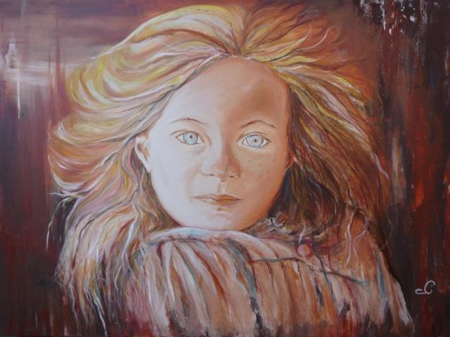 Louanne portrait acrylique Louann10