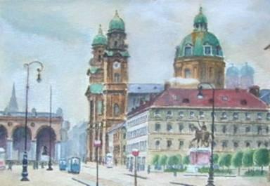 لوحات فنية قام بها هتلر 411