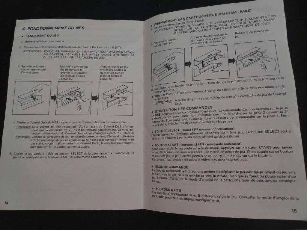 Echanges notices Nes vs Gamecube Nes311