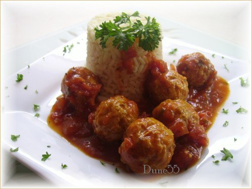 Boulettes de dindon à l'espagnole et riz au safran (en photos) 11736510