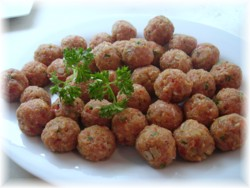 Boulettes de dindon à l'espagnole et riz au safran (en photos) Pict0818