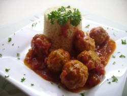 Boulettes de dindon à l'espagnole et riz au safran (en photos) Pict0830